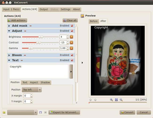XnConvert Linux Screenshot 1