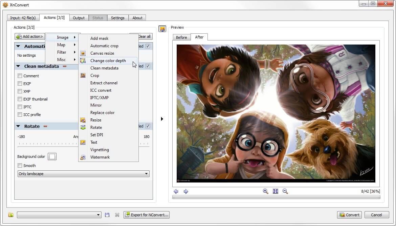 XnConvert Windows Screenshot 1