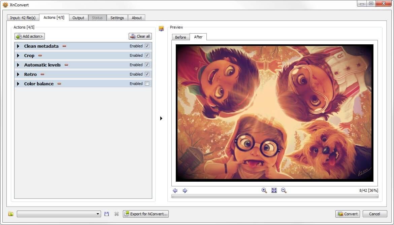 XnConvert Windows Screenshot 2