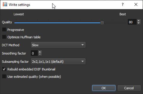 XnResize: Formats settings